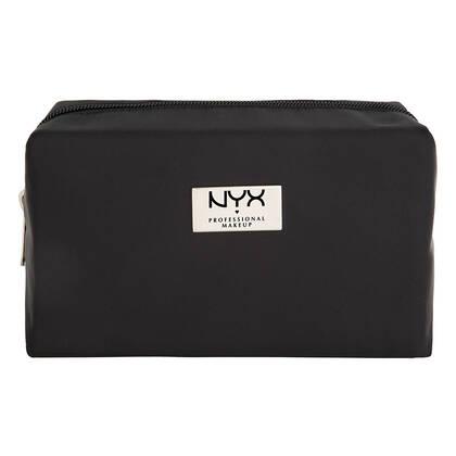 Black Rectangular Zipper Makeup Bag