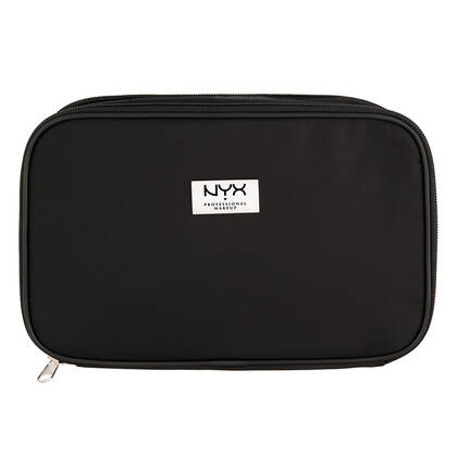 Black Large Double Zipper Makeup Bag