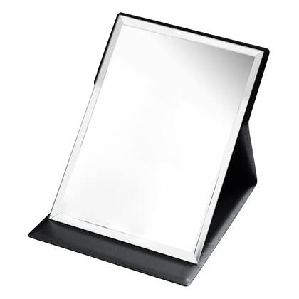 Black Folding Mirror
