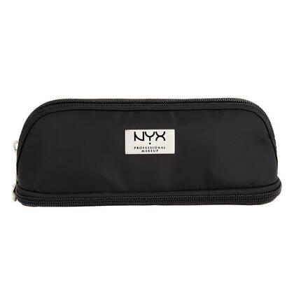 Black Double Zipper Makeup Bag